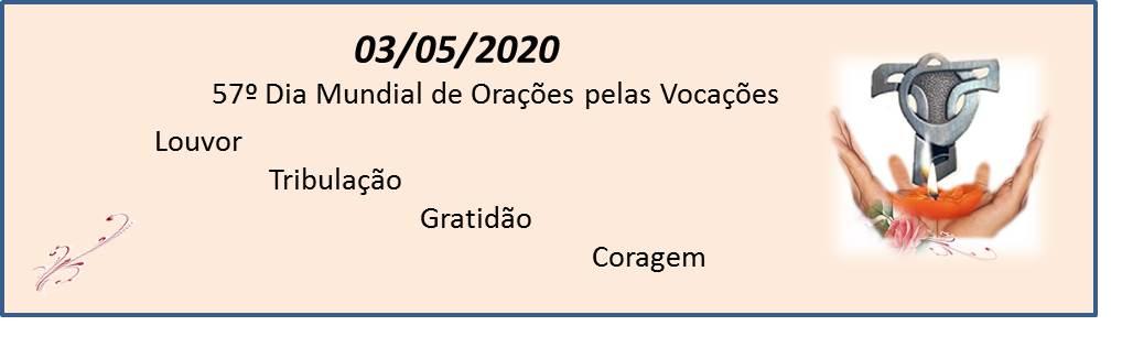 Dia Oração Mundial Vocações - 2020